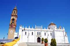 Kyrka av Oliva la Frontera Arkivfoton
