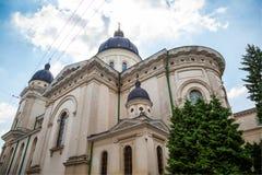 Kyrka av omgestaltning i Lviv Fotografering för Bildbyråer