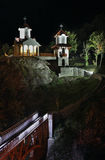 Kyrka av omgestaltning i Prolom Banja serbia arkivfoto