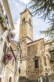 Kyrka av Pacentro, Italien Royaltyfri Bild
