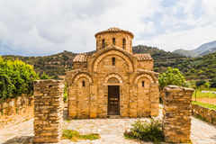 Kyrka av Panayiainen Fodele. Kreta Royaltyfri Fotografi