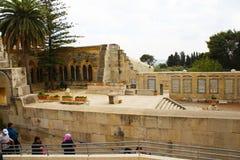 Kyrka av Pater Noster, Mount of Olives, Jerusalem royaltyfri foto
