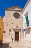 Kyrka av radbandet Fasano Puglia italy Arkivfoton