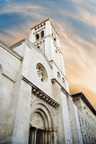 Kyrka av redeemeren i Jerusalem Arkivfoto