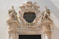 Kyrka av renhet Martina Franca Puglia italy arkivbilder