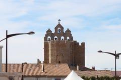 Kyrka av Saintes Maries de la Mer, Camargue, Frankrike Royaltyfri Bild