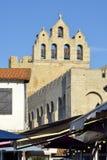 Kyrka av Saintes-Maries-de-la-Mer i Frankrike Arkivfoto