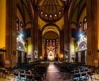 Kyrka av sakral hjärta av Jesus i bolognaen, Italien Royaltyfri Bild