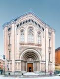 Kyrka av sakral hjärta av Jesus i bolognaen, Italien Royaltyfria Foton