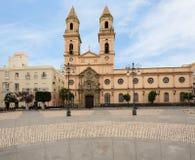 Kyrka av San Antonio i Cadiz, sydliga Spanien royaltyfri foto