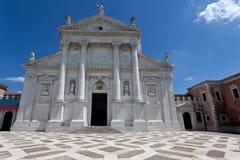 Kyrka av San Giorgio Maggiore i Venedig, Italien Arkivfoton