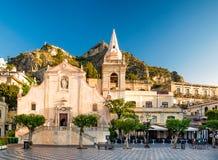 Kyrka av San Giuseppe i Taormina Arkivbild