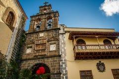 Kyrka av San Juan Bautista, La Orotova, Tenerife Arkivfoto