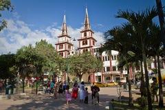 Kyrka av San Lorenzo i Jipijapa, kuststad royaltyfri fotografi