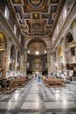 Kyrka av San Marcello al Corso i Rome Arkivbild