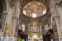Kyrka av San Marcello al Corso i Rome Royaltyfria Foton