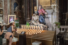 Kyrka av San Marcello al Corso i Rome Royaltyfri Fotografi