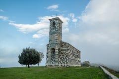 Kyrka av San Michelle i Murato i Korsika royaltyfri foto