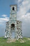 Kyrka av San Michelle i Murato i Korsika arkivfoto