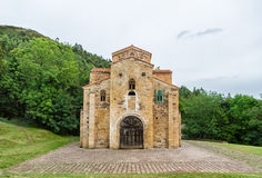 Kyrka av San Miguel de Lillo, Oviedo, Asturias, Spanien Arkivbilder