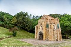 Kyrka av San Miguel de Lillo, Oviedo, Asturias, Spanien Royaltyfria Foton