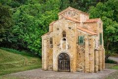 Kyrka av San Miguel de Lillo, Oviedo, Asturias, Spanien Arkivfoto