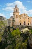 Kyrka av San Pietro Caveoso Matera Basilicata Apulia italy arkivbilder