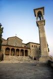 Kyrka av San Quirino i San Marino Arkivfoton