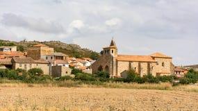 Kyrka av San Salvador i Ayoo de Vidriales i Zamora Spanien arkivbild