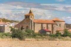 Kyrka av San Salvador i Ayoo de Vidriales i Zamora Spanien royaltyfri foto