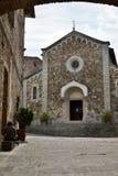 Kyrka av San Salvatore Castellina i Chianti Toscana italy royaltyfria foton