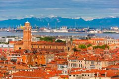 Kyrka av San Stefano i Venedig, Italien Fotografering för Bildbyråer