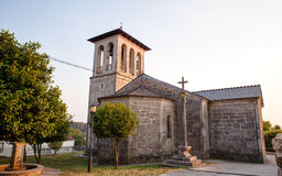 Kyrka av San Tirso, Palas de Rey Royaltyfri Bild
