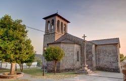 Kyrka av San Tirso, Palas de Rey Fotografering för Bildbyråer