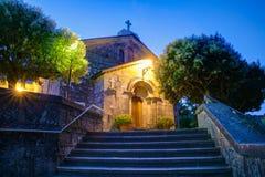 Kyrka av San Tirso, Palas de Rey Royaltyfria Bilder
