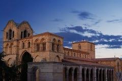 Kyrka av San Vicente i Avila Arkivbilder