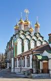 Kyrka av Sanktt Nicholas i Khamovniki, Moscow, Ryssland arkivfoto
