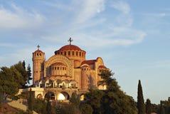 Kyrka av Sanktt Pavlo på Grekland Royaltyfri Bild