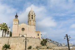 Kyrka av Sant Bartomeu & Santa Tecla Royaltyfri Fotografi