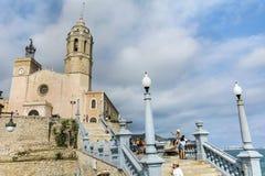Kyrka av Sant Bartomeu & Santa Tecla Royaltyfria Foton