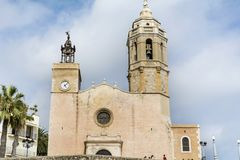 Kyrka av Sant Bartomeu & Santa Tecla Arkivfoton