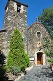 Kyrka av Sant Julià- Montseny royaltyfri bild