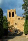 Kyrka av Sant Pere de Pals, Girona, Arkivbild