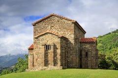 Kyrka av Santa Cristina de Lena Oviedo Arkivbilder