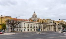 Kyrka av Santa Engracia och militärt museum i Lissabon Royaltyfri Fotografi