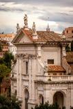 Kyrka av Santa Francesca Romana, Rome Italien Arkivfoton