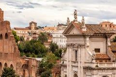 Kyrka av Santa Francesca Romana, Rome Italien Fotografering för Bildbyråer