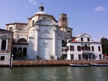 Kyrka av Santa Lucia i Venedig Arkivfoto