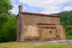 Kyrka av Santa Magdalena i Besalu Arkivbild