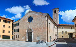 Kyrka av Santa Maria degliangelöss, Pordenone arkivbilder